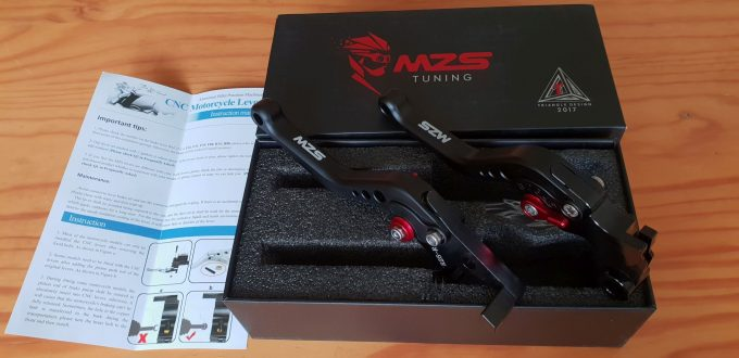 MZS Shorty Levers, Box and manual