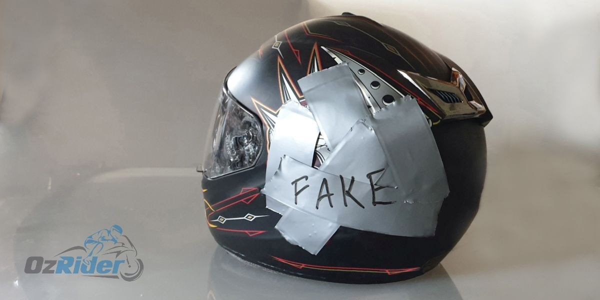 Beware of Counterfeit Helmets